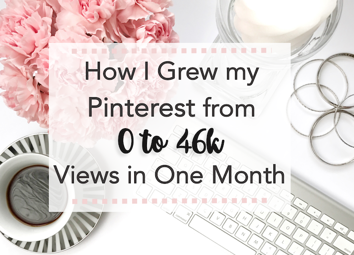 pinterest strategy 0 to 46k views in one month - featured image